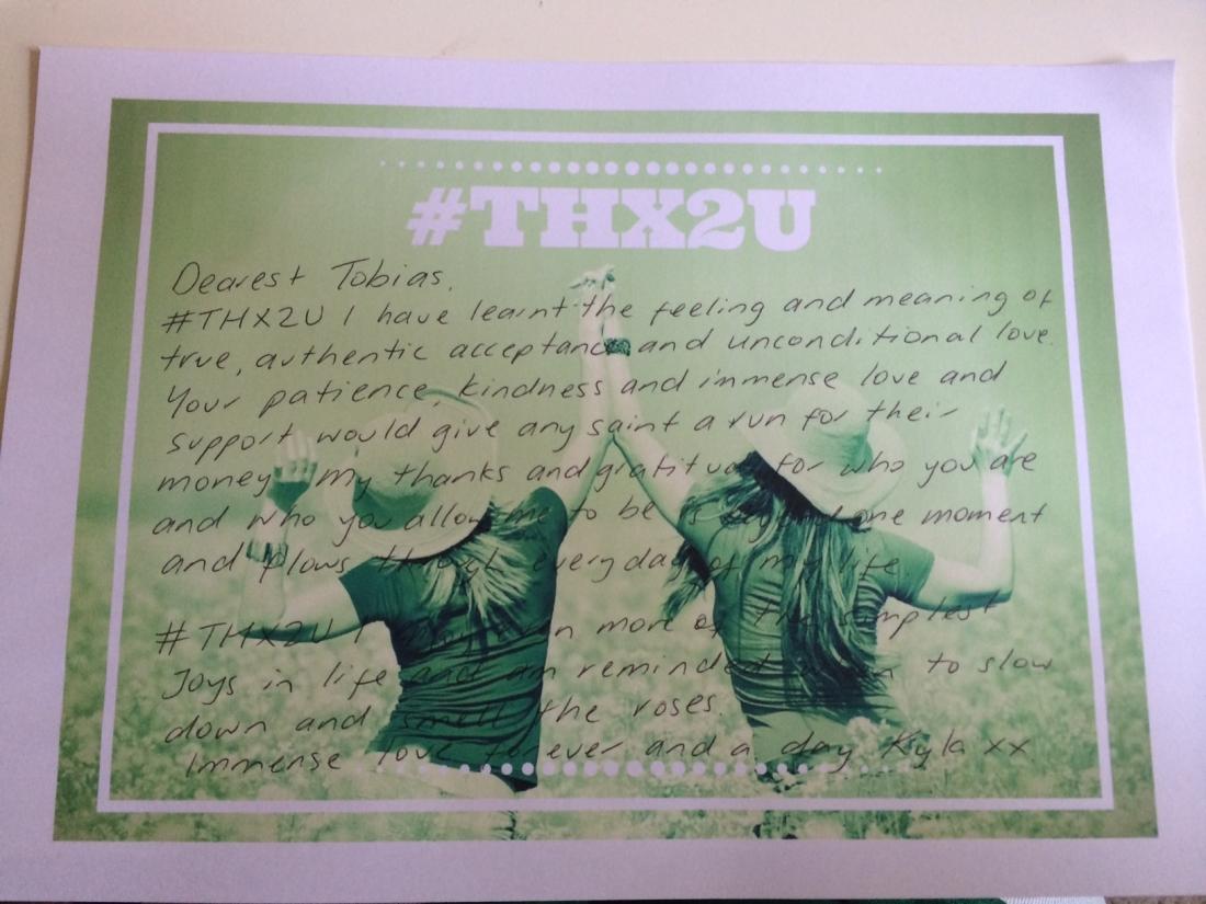 #THX2U Day 1
